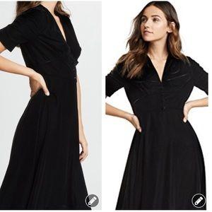 NWT! Shoshanna velvet ruched sleeve dress #4123